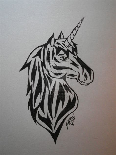 unicorn tribal tattoo unicorn tribal www imgkid the image kid has it
