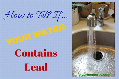 how to lead your how to tell if your water contains lead big green purse
