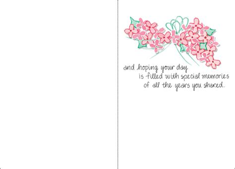 printable death anniversary cards anniversary of wedding anniversary cards it takes two inc