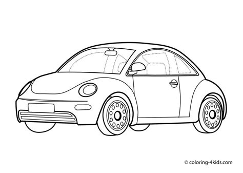 volkswagen car coloring page vw free colouring pages