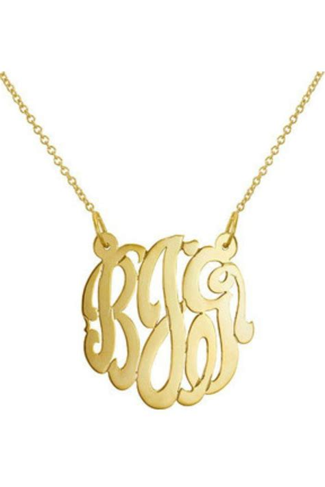 gem factor 33mm monogram necklace from new york by let s