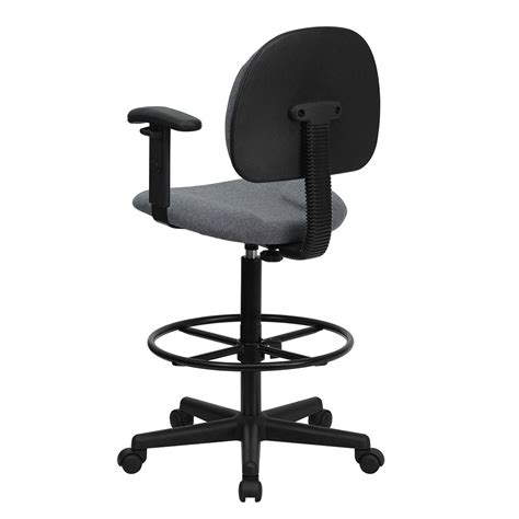 comfortable drafting chair ergonomic home gray fabric drafting chair with height