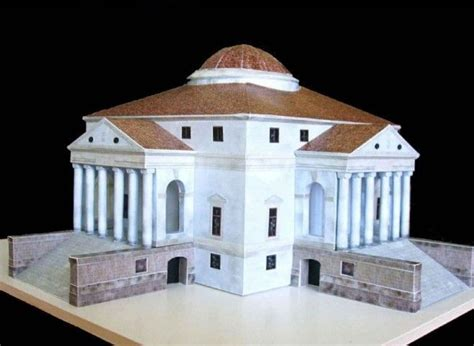 free paper model buildings downloads villa capra la rotonda free building paper model download