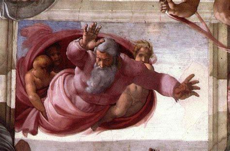 the separation michelangelo s fresco in the cappella sistina