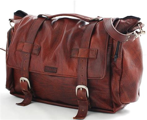 Handmade Leather Bags Usa - handmade leather messenger bag handmade 22 inch leather