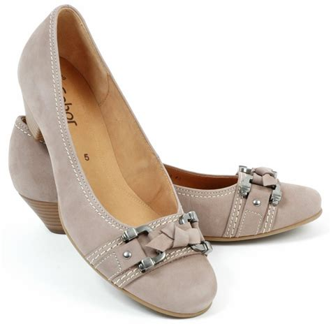 heel shoes for gabor shoes low heel court shoe in taupe