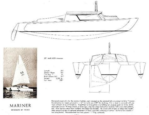 trimaran kit with folding akas arthur piver s trimaran designs тримаран pinterest