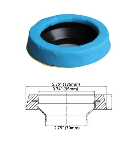 mansfield rubber st blue seal toilet donut seal ring water saver