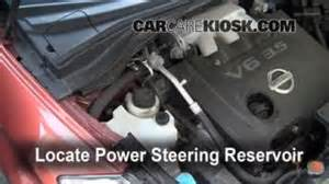 2007 Nissan Quest Power Steering Fluid Transmission Fluid Level Check Nissan Murano 2003 2007