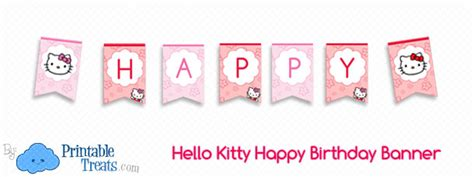 Bunting Flag Happy Birthday Banner Hbd Karakter Hello hello happy birthday banner printable treats