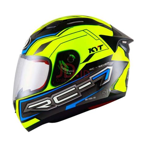 Helm Kyt Rc Seven 14 By Saungmotor jual kyt rc seven 14 helm yellow blue black