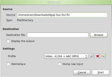 tutorial vlc linux 7 pilih direktori yang akan digunakan untuk menyimpan