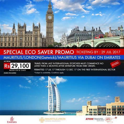 emirates promotion emirates special eco saver promo to london atom travel