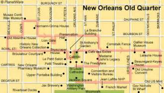 New Orleans French Quarter Tourist Map by Old Maps New Orleans Girls Wallpaper