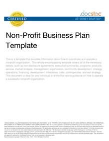 Company Business Plan Template Free Nonprofit Business Plan Template Company Non Profit