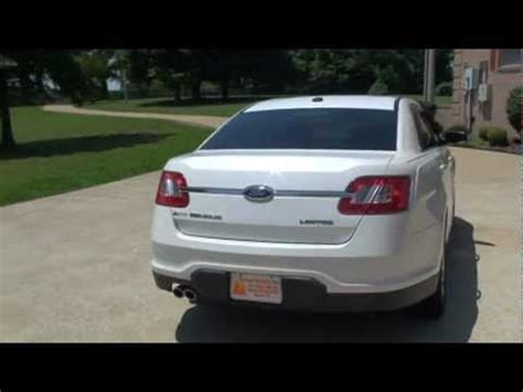 2010 ford taurus limited white platinum for sale see www