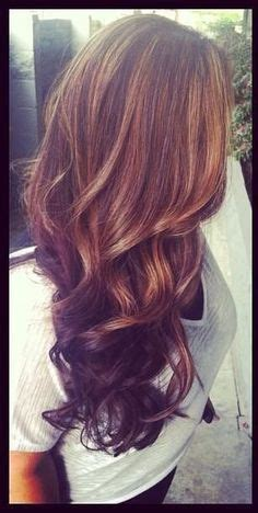 Tri Color Progressive Highlight Wonderful Fall Look Color Highlights Asymmetric Shorthair Lots Of Pretty Fall Lowlights Fall Hair Highlights Toned And Tri Colored Lowlights Hair