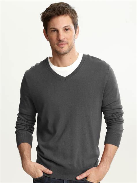 Sweater Rajut Cotton V Neck Pria 16 banana republic silk cotton v neck sweater in gray for marble grey lyst