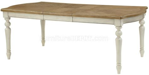 Two Tone Dining Tables 104241 Dining Table By Coaster In Two Tone W Options