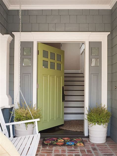 Green Front Door Colors 25 Eclectic Front Doors With Pastel Colors Home Design And Interior