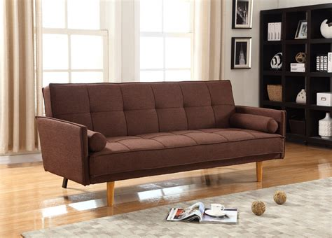 mid century convertible sofa item l33303 mid century convertible sofa bed futon brown