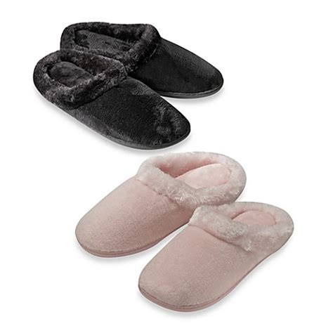 bed bath and beyond slippers memory foam women s slippers bed bath beyond