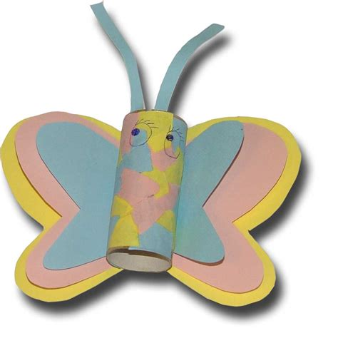 Butterfly Toilet Paper Roll Craft - paper crafts for children 187 toilet paper roll butterfly