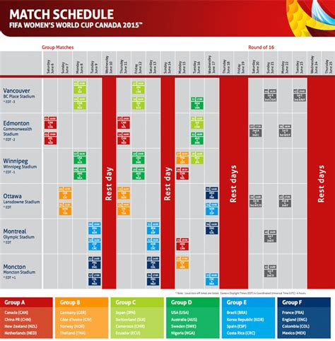 fifa world cup schedule fifa women s world cup 2015 schedule