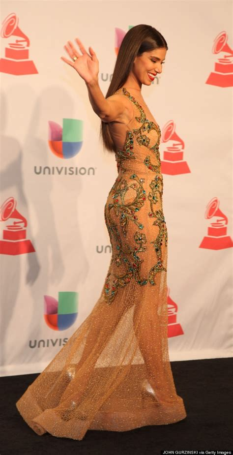 Multi Colored Carpet by Roselyn Sanchez Stuns In Sheer Dress At The Latin Grammys