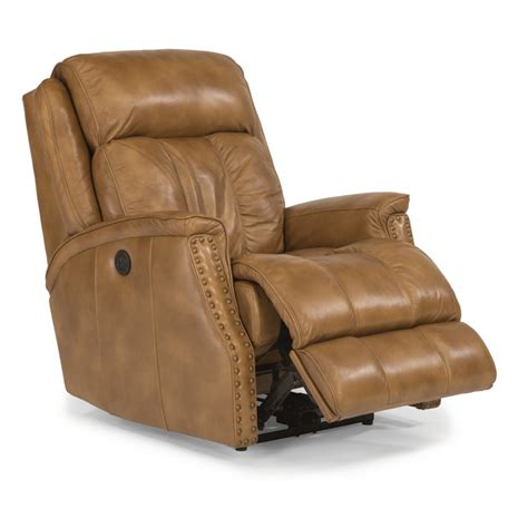 cheap power recliners flexsteel 1246 500p timmons leather power recliner