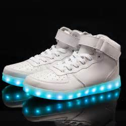 Light Up Shoes Adults Plus Size Microfiber Leather Luminous Led Shoes For Adults
