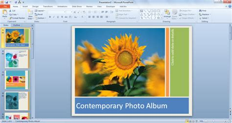 How To Use Powerpoint 2010 Templates Powerpoint Template Office 2010