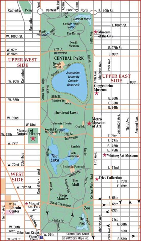 map of central road map of central park manhattan new york