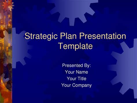 strategic plan template ppt strategic plan powerpoint templates business plan