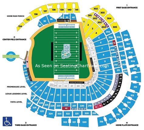 seating chart miami marlins marlins park miami fl seating chart view