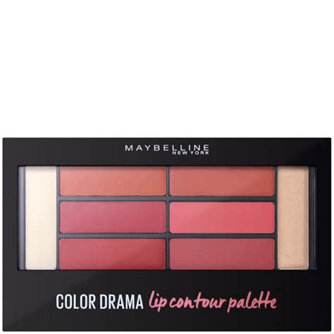 Lipstick Palette Maybelline maybelline colour drama lip contour palette 4g blushed bombshell free shipping lookfantastic