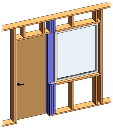 wood header design exle framing timber walls in revit 174 model wood framing wall