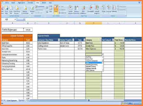 Tracking Business Expenses Spreadsheet by Expense Tracking Template Best Resumes
