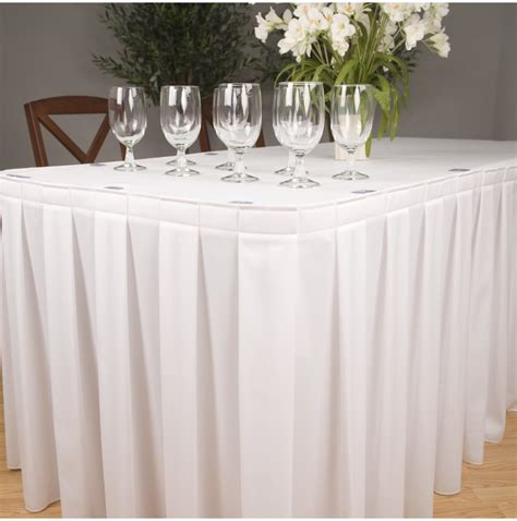 Buffet Table Skirt Box Pleat 4 Sides Buffet Table Skirting