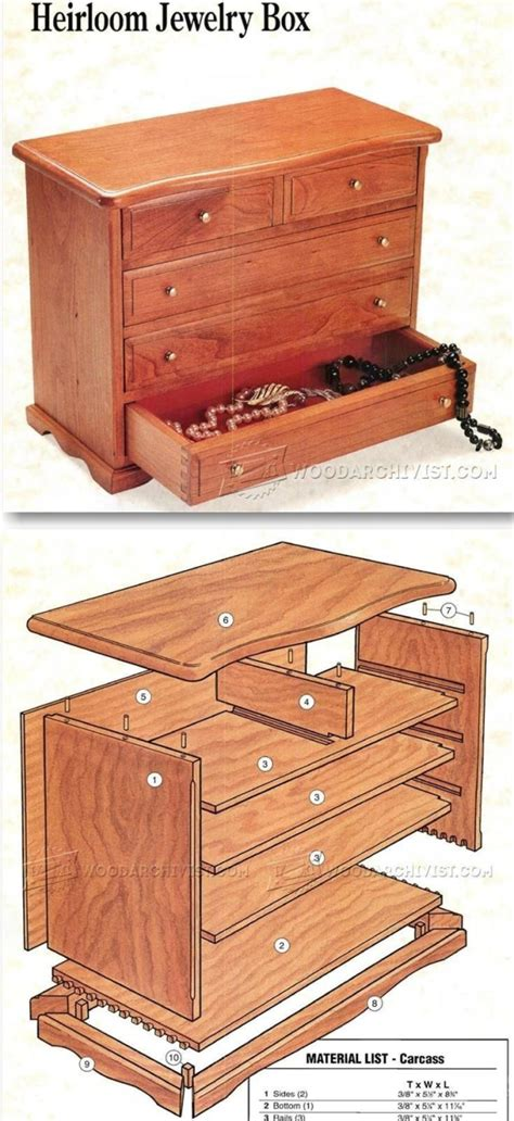 heirloom jewelry box plans woodworking plans