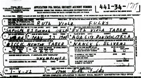 Social Security Records Rdfulks Genealogy For Isaac Newton Taber