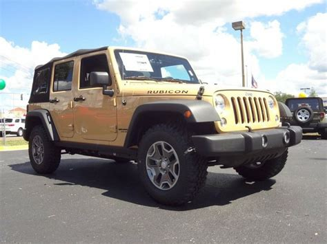 dune jeep 2014 jeep wrangler unlimited rubicon 4x4 dune clear coat