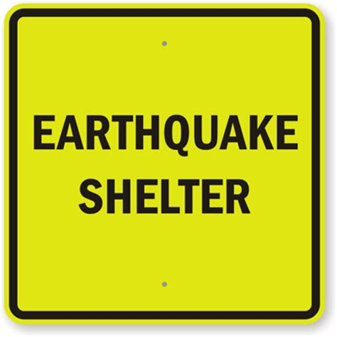 earthquake signs earthquake shelter sign shelter area sign emergency