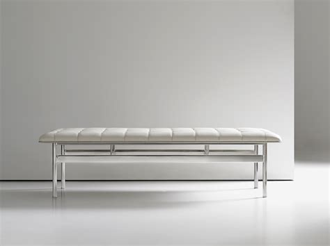 modern white bench chrome modern white leather bench ambience dor 233