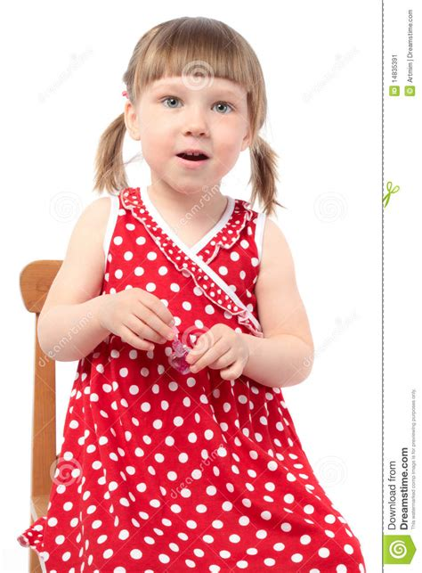 little girls beautiful little girl with nail polish stock image image