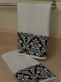 black and white damask bath towels black damask bathroom towels set of 2 by headtotoe2009