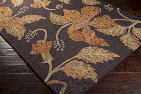 fall area rugs surya blooming blm 7001 espresso cinnamon spice closeout area rug fall 2015