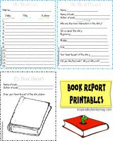 Elementary School Book Report Template by Printable Book Report Forms Elementary Inspired By Family