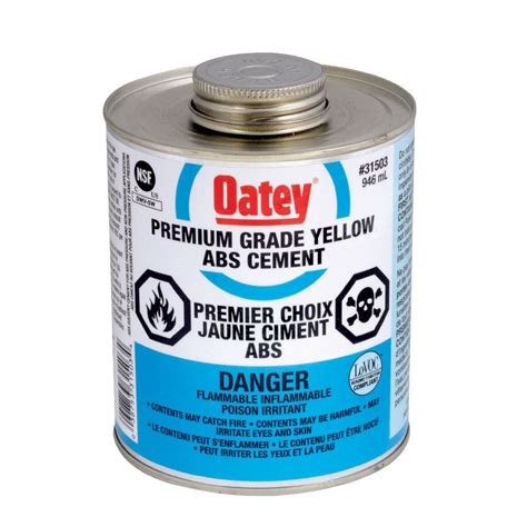 oatey 946 ml abs cement yellow c the home depot canada