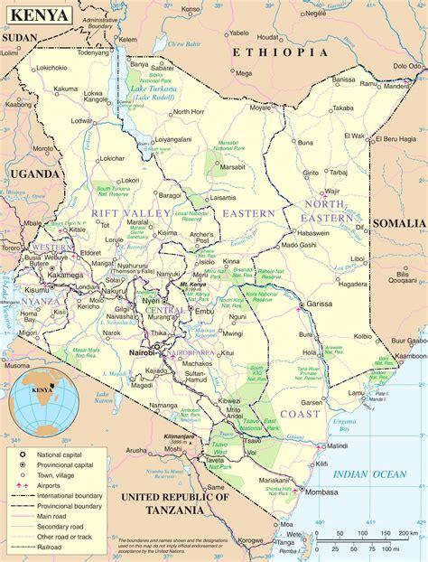 kenya on a world map kenya political map